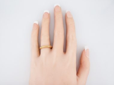 Wedding Band Modern in 18k Yellow Gold