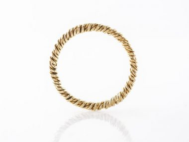 Textured Wedding Band in 14k Yellow Gold