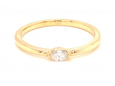 .13 Marquise Diamond Stacking Band in 14k Yellow Gold