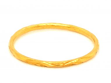 1.24mm Art Deco Wedding Band in 22k Yellow Gold