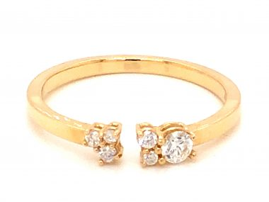 .18 Diamond Open Stacking Band in 14k Yellow Gold