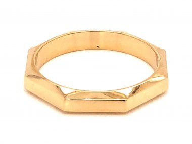 3mm Octagonal Stacking Band in 14k Yellow Gold