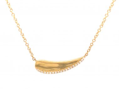 .06 Diamond Necklace in 18K Yellow Gold