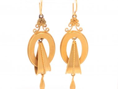 Antique Victorian Earrings in 14k Yellow Gold