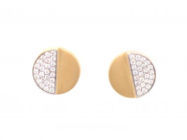 .50 Pave Diamond Earrings in 18k Yellow Gold